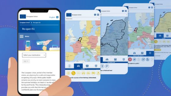 Viajar por Europa en tiempos de COVID: una App indica las condiciones de cada país